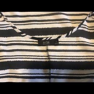 Apt 9 XL black and white striped camisole EUC